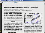 Environmen tal Effects of Increased Atmospheric Carbon Dioxide